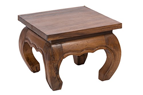 Opiumtischchen 35x35x30cm Massivholz Handarbeit, nußbraun