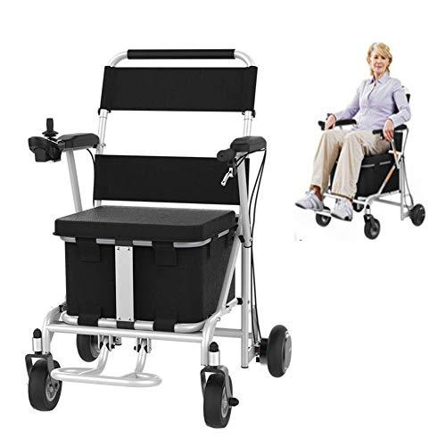 NAMENLOS Silla de Ruedas eléctrica Plegable con Control Remoto, Carro de Compras de Scooter Viejo Ligero y Compacto, Abierto/Plegable en 1 Segundo para Personas discapacitadas