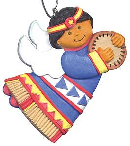 Roots & Wings Native American Angel Ornament (Children of The World)