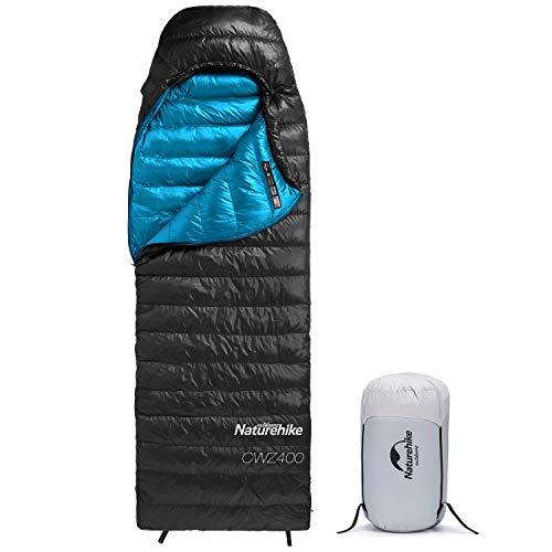 Naturehike Daunenschlafsack, leichte tragbare Winterschlafsäcke für Erwachsene, kompakt wasserdicht für Camping, Rucksackreisen, Wandern, 3 Jahreszeiten, mit Kompressionssack