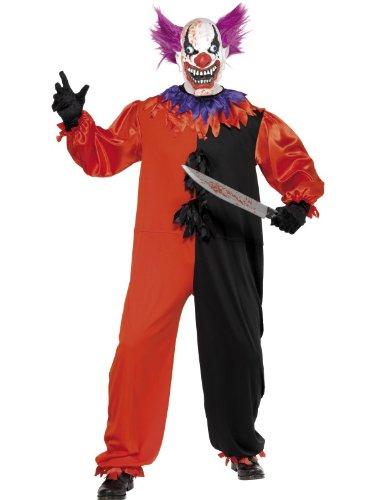Kostüm Cirque Sinister Der schreckliche Clown BoBo mit Einteiler und Maske, Medium