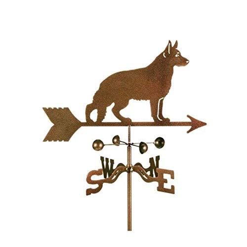 L.J.JZDY Wetterfahne Hund Muster Garten Eisen-Kunst-Windfahne Verweisen Verkehrsschild Dachdekoration Garten Gartenbedarf Metal Crafts
