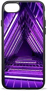 iPhone7/8ケース 紫色のネオン灯はしご iPhone7/8plus携帯ケース TPU 耐衝撃 擦り傷防止 シリカゲル ソフトシェル 保護 スマホケース 薄型 軽量 for Apple iPhone 7/8 4.7