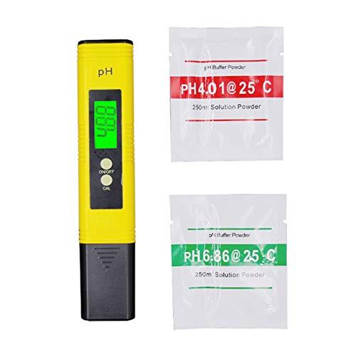 Hintergrundbeleuchtung Ph Meter Ph Test Pen Hochpräziser Ph Pen Test Tester Ph Wert Tester Säure und Alkali Aquarium Aquarium (gelb) DEjasnyfall