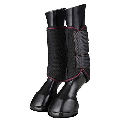 LeMieux Carbon Mesh Wrap Stiefel – Schwarz/Maulbeere, Extra Large