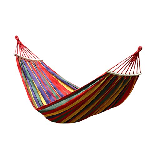 Luccase Outdoor Garden Camping Hammock Portable Hammock for Patio Yard Garden Backyard Porch Travel(102.3 x 59.1 inch,Double)