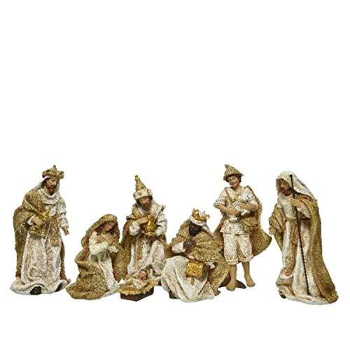 KAE - Set de belén navideño con Figuras de polirresina Tradicional de Navidad, 6 diseños Disponibles