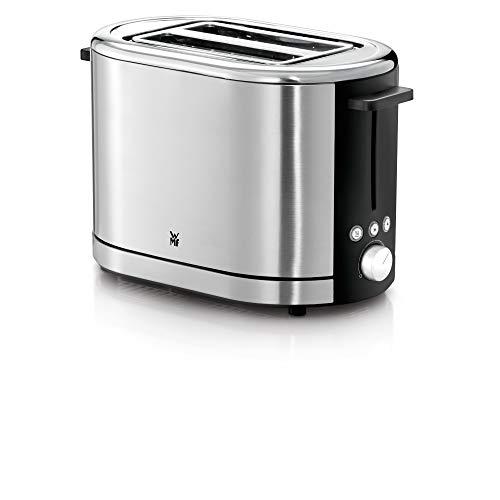 WMF Lono shine Toaster Edelstahl, Doppelschlitz Toaster mit Brötchenaufsatz, 2 Scheiben, XXL-Toast, 7 Bräunungsstufen, 900 W, edelstahl poliert