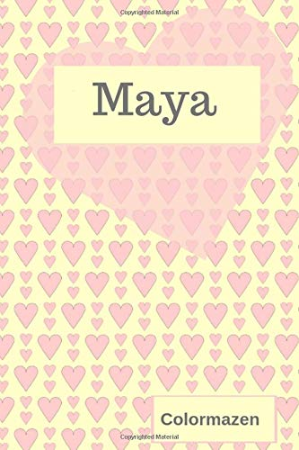 Maya: Personalised Valentine Heart Notebook In Pink (Small) (Valentine Heart Personalised Notebooks)