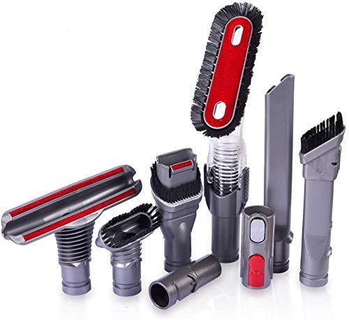 KEEPOW 8 Stück Bürste für Dyson V6 V7 V8 V10 V11 Staubsauger, Adapter Zubehör Ersatzteile für Dyson Staubsauger