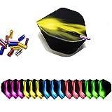 ToBeIT 15 pezzi Protezione alette freccette(Dart Flight Protector) in alluminio con 15 pezzi Alette per Freccette(dart flights)