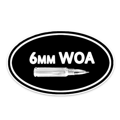 Wandtattoos Wandbildermodische 6Mm Woa Munition Auto Form Auto Aufkleber Aufkleber Wasserdicht Pvc Fahrzeug Stoßstange Fensterdekoration Aufkleber 15.5Cm X 9.1Cm