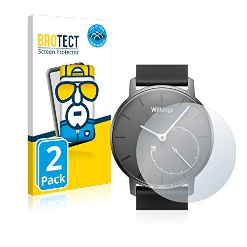 BROTECT Full-Cover Schutzfolie kompatibel mit Withings Activité Pop (2 Stück) - Full-Screen Bildschirmschutz-Folie, 3D Curved, Kristall-Klar