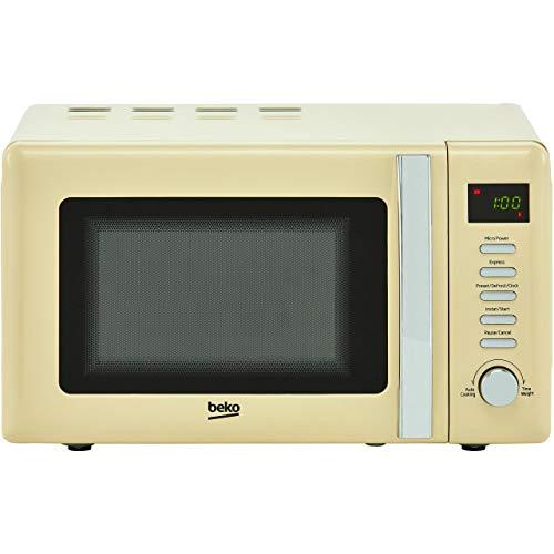 Beko MOC20200C Solo Retro Microwave 20L 800W - Cream