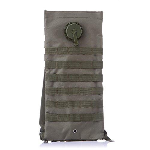 vitalite-outdoor deporte Tactical–Mochila de hidratación 2.5L agua vejiga Hidratación paquetes para al aire libre Ciclismo senderismo escalada, Army Green