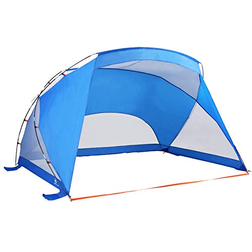 ALPHA CAMP 3 Person Sports/Beach Shelter Easy Up Sun Shade - 9' x 6' Blue