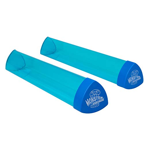 Playmat Tube - Monster Protectors Prism-Shaped Play Mat Tube (Blue Translucent) - Won't Roll, Easy in and Out Design (2 Pack)