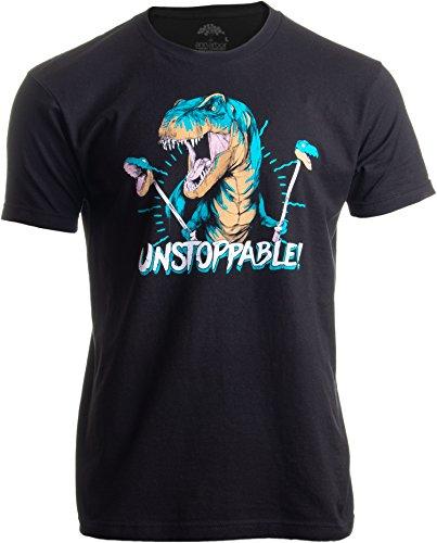 Unstoppable T-rex | Funny Dinosaur Dad Joke Silly Humor para hombres y mujeres Camiseta, Negro,...