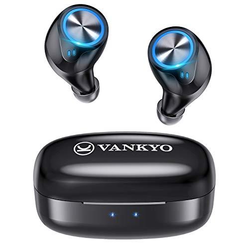Wireless Earbuds (Upgraded), VANKYO in-Ear Bluetooth Headphones, Immersive Bass Sound, IPX8 Waterproof Sport Earphones, Touch Control Earbuds, 30 Hrs w/USB-C Charging Case/Twin&Mono Mode/Mics