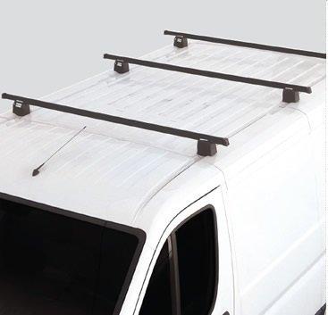 Fabbri 74026 - Juego de 3 barras para baca de furgoneta (sistema antirrobo)