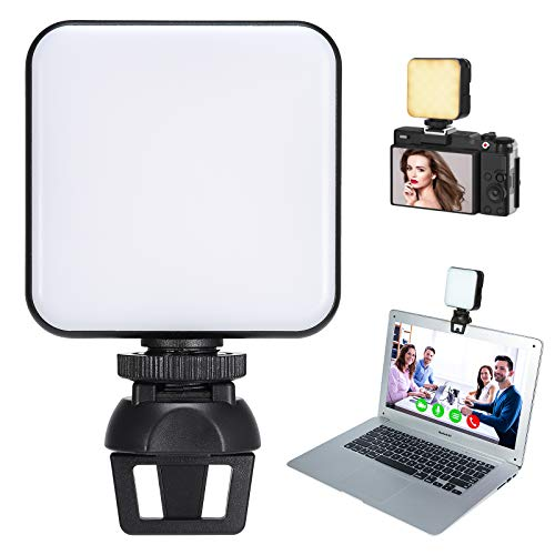 Video Conference Lighting, LED Zoom Lighting for Computer & MacBook Laptop Camera Webcam Lighting for Video Recording, Zoom Calls, Live Streaming, Facetime, Video Shooting, Selfie (64 Lamp Beads)