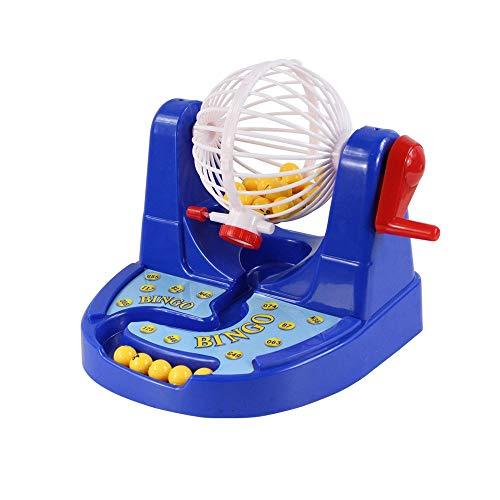 ZAKRLYB Manual de Educación Juguetes de simulación de juego de mesa Conjunto de escritorio juego de los niños del regalo de Selección de número de Lotería máquina de lotería La interacción entre padre