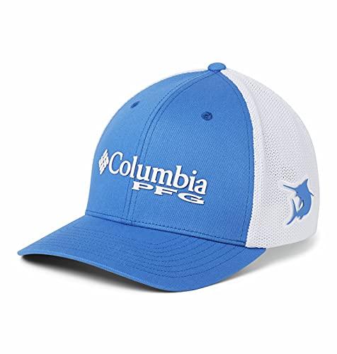 Columbia Men's PFG Mesh Ball Cap, Vivid Blue, Large/X-Large