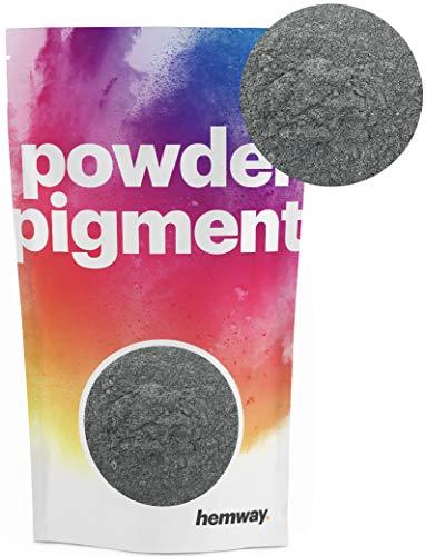 Hemway – Buntes, strahlendes Metallic-Pigmentpulver, für Epoxidharz und Polyurethanfarbe, grau