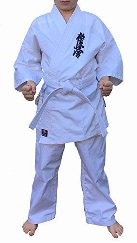 Kyokushin, kimono da karate, adatto per bambini, bianco, 140 cm
