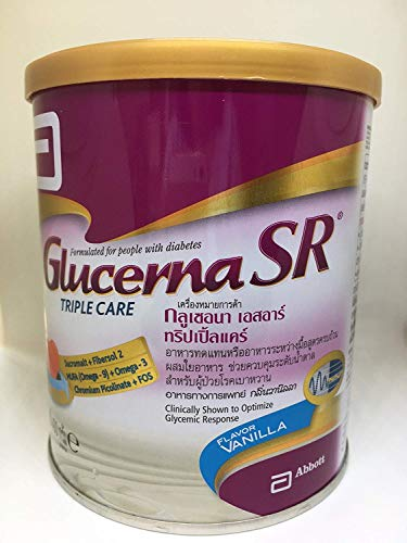 Glucerna Sr Triple Care Complete Nutrition Formulated Ideally for People with Diabetes Vanilla Flavor 400g. By Thaidd