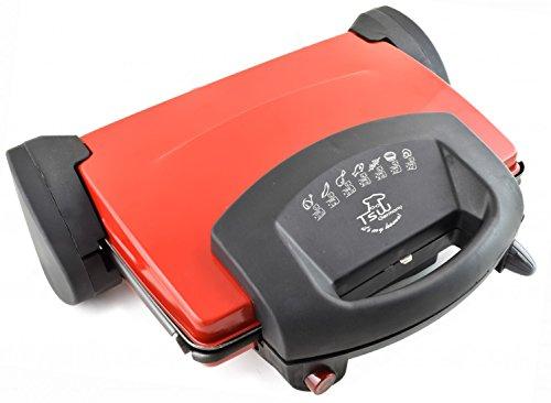 Kontaktgrill Universalgrill 2000 Watt Multigrill Tischgrill Toaster Grill ROT