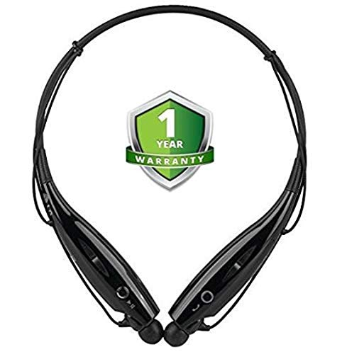 odestro HBS-730 Wireless Bluetooth Headset Sports Bluetooth Headphone Sweatproof & Mic with Magnet Earphone Bluetooth Headset & Mic Support for All Smartphone (Assorted Colour)