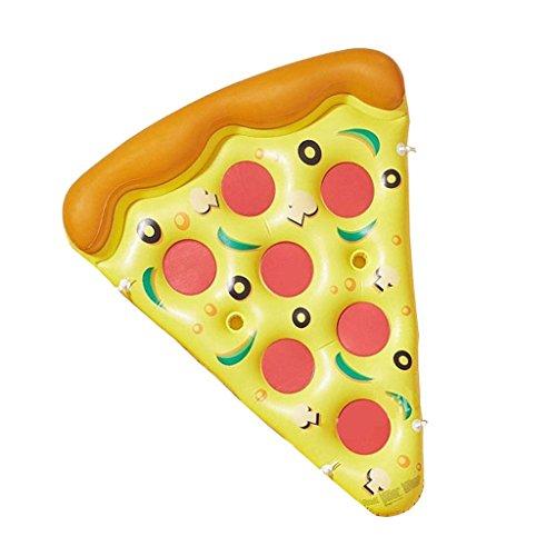 AMOS Aufblasbare Pizza Wasser Seat Aufblasbare Spielzeug Adult Float Floating Pad Wasserbett ( Farbe : Car pump )