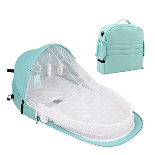 GAOYUE Tragbares BB-Klappbett im Freien Bionic Babybett Baby-Sicherheitsisolationsbett Multifunktions-Reisebett Wiegeklappbares Kinderbett, 3-TLG