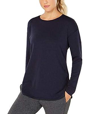 32 DEGREES Women's Long-Sleeve Fleece Top Heather Dress Blue Small