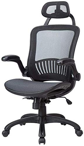 Meet Perfect Ergonomic Office Chair - Modern High Back Mesh Desk Chair Rolling Wheels Reclining Computer Chair with Lumbar Support and Headrest- Adjustable Breathable Seat Cushion & Armrest - Black