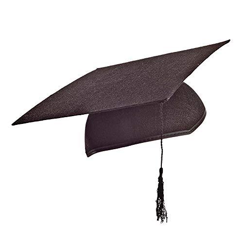 Widmann 1666L - Akademiker Hut aus Filz - schwarz - ca. 56 cm Kopfumfang mit Bommel