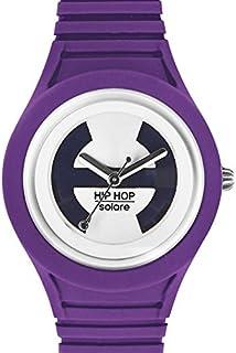Hip Hop Watches - Orologio da Donna Lady Violet HWU0538 - Collezione Solare - Cinturino in Silicone - Impermeabile 5 ATM -...
