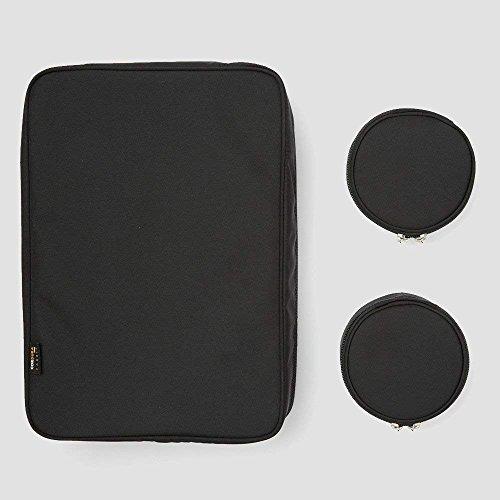 [TABITUS/タビタス]ワイシャツケース&ネックポーチ(2枚用)ブラック