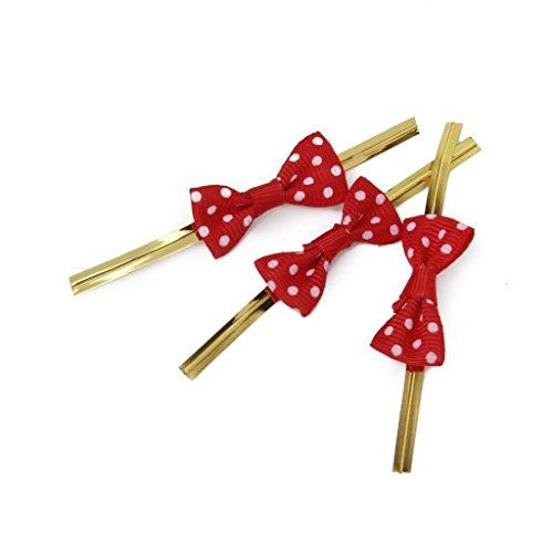 AAA + A env. 20 Bowknot Cadeau Motif métallique Twist Ties pour fête Bakery Cookie Candy Sacs