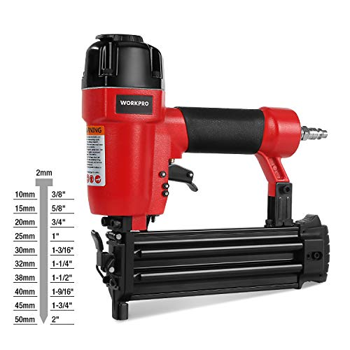 "WORKPRO 18-Gauge Pneumatic Brad Nailer, Compatible with 3/8"" up to..."