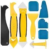 ZOOI 9 Stücke Silikonentferner, Fugenkratzer, Silikon Abzieher Fugenwerkzeug Fugenglätter Multifunktional Abdichtung Werkzeug Caulk Dichtmittelelentferner, Sealant für Badezimmer Küche Boden