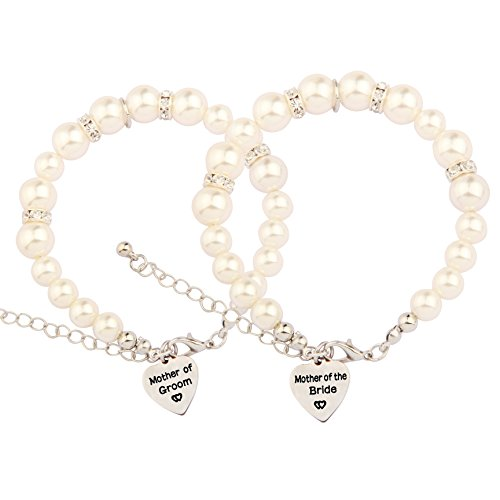 SEIRAA Mother in Law Pearl Bracelet Wedding Gift for Mother...