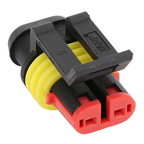 Impermeable AMP 1.5 10 Sets Conector macho y hembra IP68 para automóvil(2P)