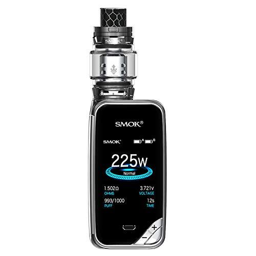 Authentic SMOK X Priv Kit E Cigarette Starter 225W TFV12 Prince Tank 8ml- Nicotine Free No Oil Smoke (Prism Gun Mental)