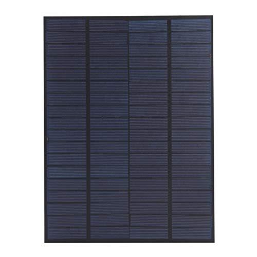 SALUTUYA Panel Solar con Cable Módulo de Panel de célula Solar Ligero Cargador Silicio policristalino portátil 5W 18V para Luces de Emergencia para Luces del hogar