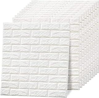 ORiTi 70x77cm PE Foam 3D Wall Stickers Safty Home Decor Wallpaper Sticker,white(10 Pack)