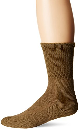 Thorlos Unisex MB Military Thick Padded Crew Sock, Brown, Large