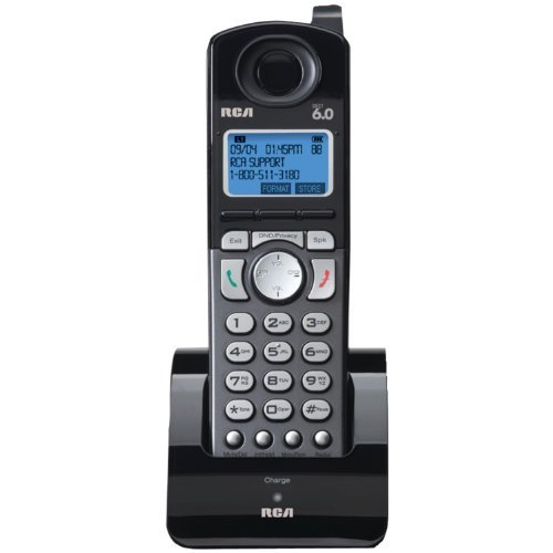 rca corded cordless phones RCA 25055RE1 DECT 6.0 Cordless 2-Line Handset Accessory for RCA 2-Line Base Station (Handset Does Not Work Independently),Black