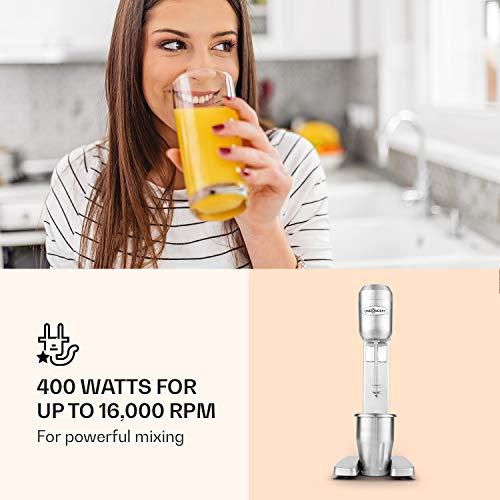 oneConcept DM-B2 Power Drink Mixer Gastro Standmixer-Barmixer für Smoothies, Cocktails, Milchshakes u.a. Getränke, Saucen oder Pürree (400W, 650ml, 1000 & 1500 U pro Min) silber